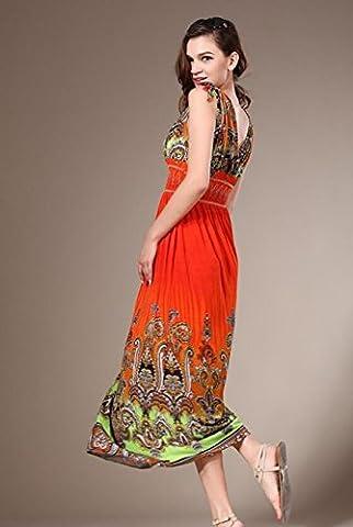 Robe longue avec décolleté en V profond et sexy style bohémien. Robe de soirée, robe de plage, robe pour printemps ou automne, robe d'intérieur.