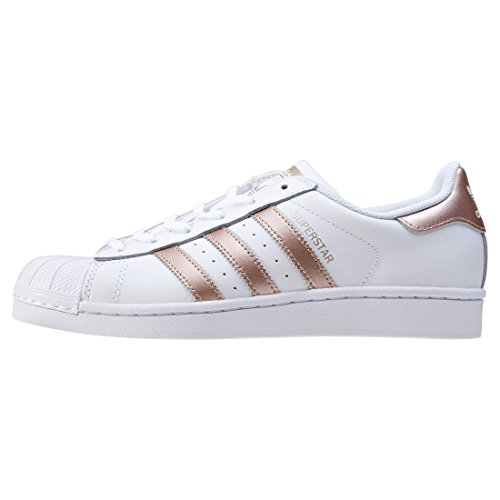 adidas Superstar W, Sneakers Basses Femme Blanc (Ftwwht/supcol/ftwwht)