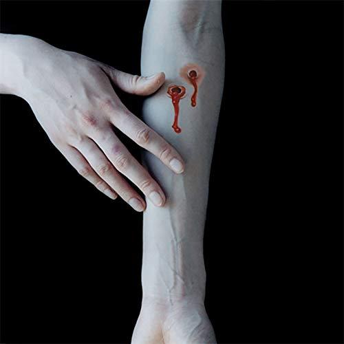 Halloween Dress Up Tattoo Aufkleber Biss mark Pistole Wunde Blut Loch Narben Halloween Parodie Streich Wasserdichte Tattoo - Loch Durch Körper Kostüm