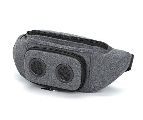 The #1 Fannypack mit Lautsprechern. Bluetooth Fanny Pack für Partys, Festivals, Raves, Strand, Boote Wiederaufladbar, funktioniert mit iPhone und Android. #1 (grau, 2019 Edition) (Party Fanny Pack)