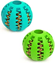 Dog Toy Ball, Nontoxic Bite Resistant Toy Ball for Pet Dogs Puppy Cat, Dog Pet Food Treat Feeder Chew Tooth Cl