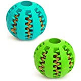 Dog Toy Ball, Nontoxic Bite Resistant Toy Ball for Pet Dogs Puppy Cat, Dog Pet Food Treat Feeder Chew Tooth Cleaning Ball Exe