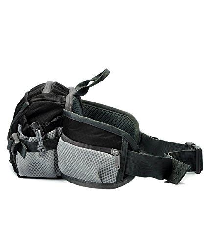 SHOWTIMEZ Gürteltasche Wasserabeweisende Bauchtasche Hüfttasche als Daypack Taille Tasche für Morgen Laufen Reisen Wandern Schwarz