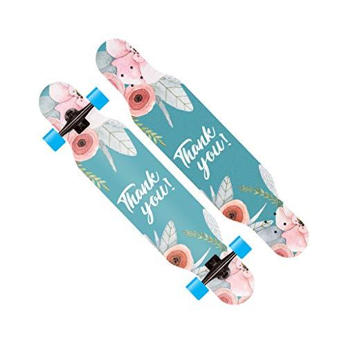 LINGLING-Longboards Professional Dance Board Long Board Standard Skateboard Teen Generatoren Für Männer Und Frauen Anfänger - Flash Wheel (Farbe : Flash- Blue) -