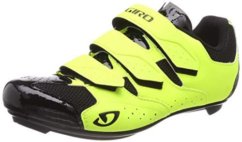 Giro Herren Techne Road Radsportschuhe - Rennrad, Mehrfarbig (Highlight Yellow 000), 44.5 EU