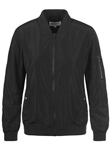 Desires Temari Damen Bomberjacke Übergangsjacke Jacke mit Stehkragen, Größe:M, Farbe:Mid Grey (2842)
