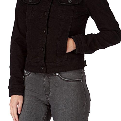 Lee L54Ijb - Veste en jean - Manches longues - Femme Noir (Cozy Black)