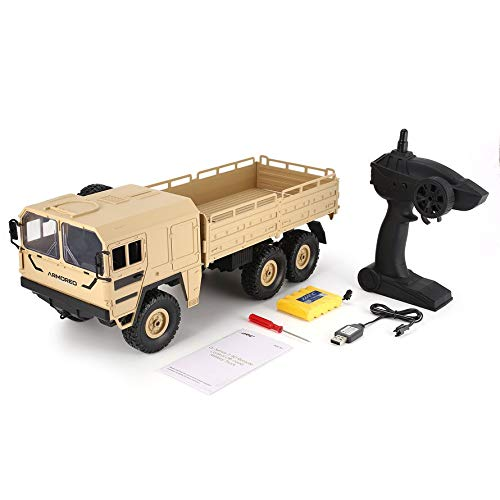 HoganeyVan JJRC Q64 1/16 2.4G 6WD Rc Car Military Truck Off-Road Rock Crawler RTR Toy 6 Wheels Racing Toys for Children Gifts Presents