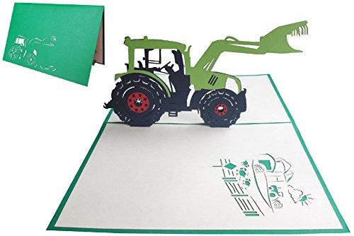 'Lin Pop Up carte chèque carte d'anniversaire cartes de vœux automobile Trekker Tracteur (N ° 205)