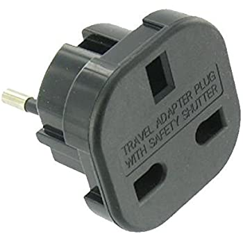 Euro-Stecker auf UK Stromadapter: Amazon.de: Elektronik