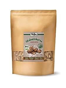 Biojoy Noci Sgusciate BIO | al 100% Gherigli di noci biologiche di qualità premium | Agricoltura biologica controllata | Juglans regia 2018 (1 kg mezza noci)