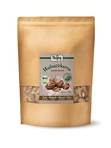 BIO-Walnusskerne | Frische Walnuss-Hälften ohne Schale aus kontrolliert biologischem Anbau | Juglans regia | Walnüsse Ernte 2017 (1 kg Halbe Kerne) (Unser Nehmen Sie Brot)