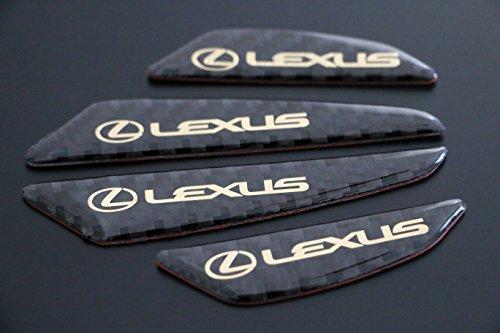 kit-4-logo-sticker-protection-gardien-lexus-carbon-look-gel-resine-anti-rayures-