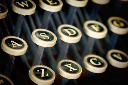 WA, Seabeck Remington Standard typewriter keys - Fine Art Print on Fine Art Paper - PRINT ONLY -NO FRAME - 22 x 14 Inch