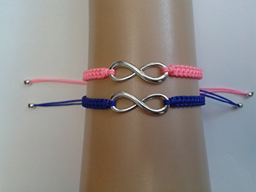 couple-infinite-bracelet-ensemble-rose-bleu-corde