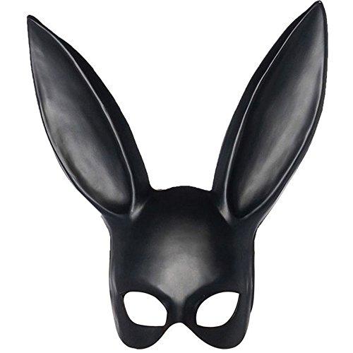 Häschen Deluxe Kostüm - ZHENYANG Halloween Mask Masquerade Film- Und TV-Requisitenmaske (Long Ear Half Mask)