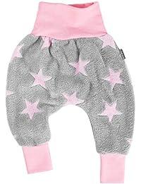"""182d987fef Lilakind"""" Kinder Baby Mädchen Pumphose Hose Fleece Fleecehose Sterne Grau  Rosa Gr. 50-"""