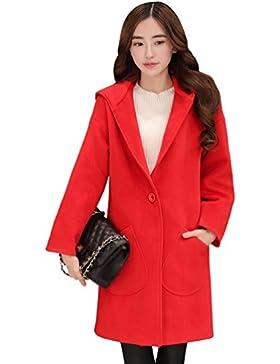 WanYang Mujer Abrigo Casual Sudadera con Capucha Chaqueta de Lana Capa Jacket Invierno Parka