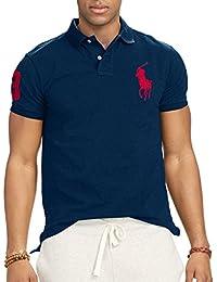 Ralph Lauren Polo Chemise pour Homme - Custom Fit - Big Pony - Différentes Couleurs
