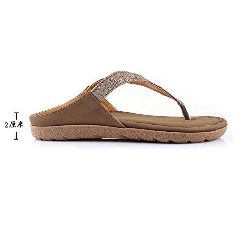 Cailin Sandals, Chaussures de plage d'été Sandales de diamants de mode Pente à talons hauts avec chaussures ouvertes ( Couleur : 1001 , taille : EU36/UK4/CN36 ) 1001
