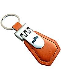 RainSound KTM Leather Keychain | Keychain For Bike | Metal Keychain | Keyring