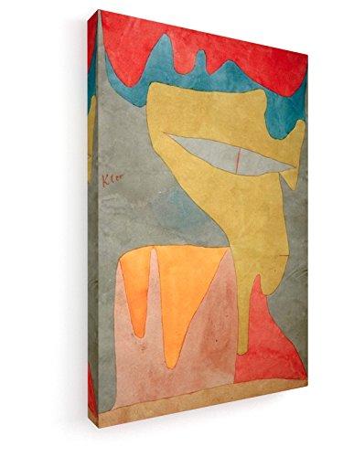 Paul Klee - Fräulein - 1934 - 50x75 cm - Leinwandbild auf Keilrahmen - Wand-Bild - Kunst, Gemälde, Foto, Bild auf Leinwand - Alte Meister / Museum Fräulein Klee