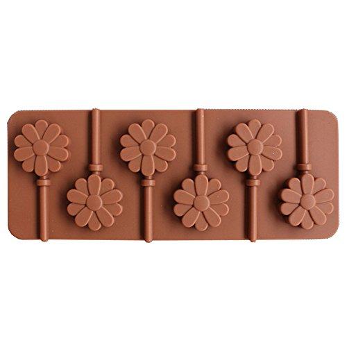 lloween Backen Fondant Formen Werkzeug, Silikonform Liebes Lutscher DIY Schokoladenform Kuchen Dekoration Form ()