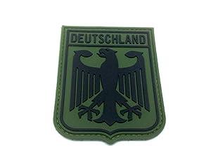 Deutchland Aigle Impérial Allemagne Blason Drapeau Vert Airsoft PVC Patch