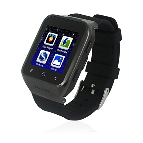Hunpta S8 3G WCDMA Android 4.4 Smartwatch mit 3.0 MP Kamera GPS WiFi (Black)