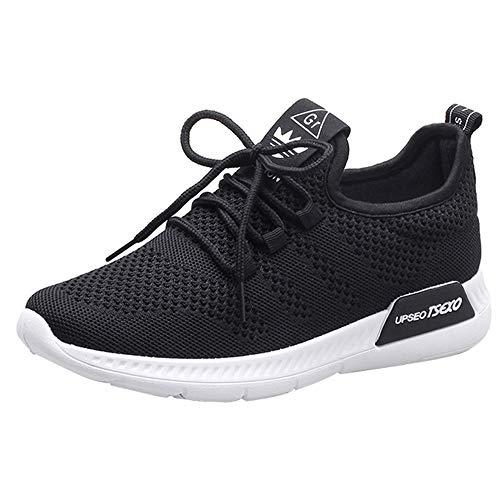 JiaMeng Damen Schnürer Sportschuhe Sneaker Freizeit Laufschuhe Sneaker -