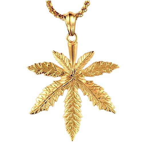 lalopez-herren-edelstahl-retro-gold-ahorn-blatt-esserteauiana-anhanger-halskette