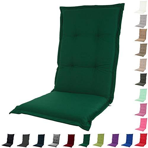 Forest Green Outdoor-stuhl (KOPU® Auflage für Hochlehner Prisma Forest Green | Polster für Gartenstühle | Grün Garten Kissen 125 x 50 cm | 19 einfache Farben | Robuster Schaumstoff für zusätzlichen Komfort)