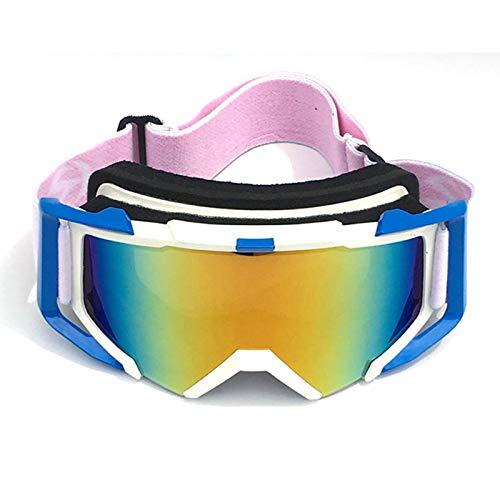 Coniea Fahrradbrille Sehstärke TPU+PC Snowboardbrille Jugendliche Sport Sonnenbrillen Weiß Blau