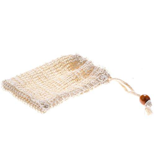 SIDCO 1 x Seifennetz Sisal Öko Seifensäckchen Bio natürlich abbaubar Peeling Effekt