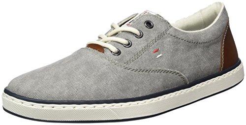 Rieker Herren 19650 Sneakers, Grau (Grey/Kastanie/40), 45 EU (Schuhe Herren Leinen)