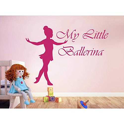 SHENGYUNPIO Vinile Adesivo My Little Ballerina Girl Lovely Interior Camera dei Bambini Art Rimovibile Home Decoration Stickers
