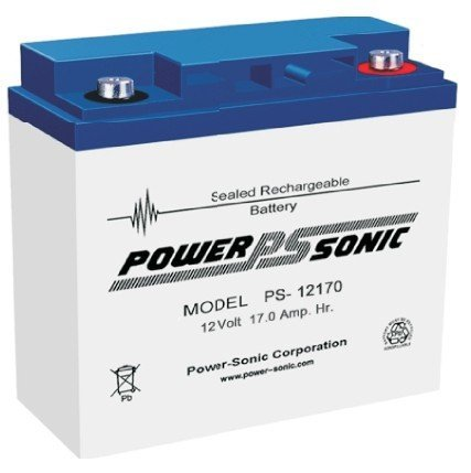 Bleiakku - Akku Powersonic PS 12170 - Powersonic PS12170 - Powersonic PS-12170 mit VdS Zulassung - 12V 17,0Ah - Rechargeable Sealed Lead Acid (SLA) Battery - AGM / Blei Vlies Sealed Lead Acid-agm