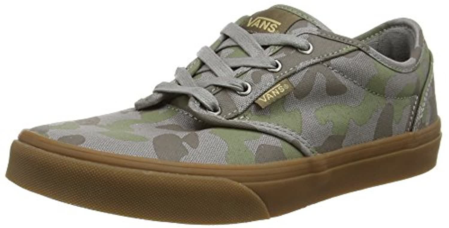 Vans Atwood, Boys' Low-Top Sneakers, Multicolor (camo/brushed Nickel/gum),2 YOUTH UK ,34 EU