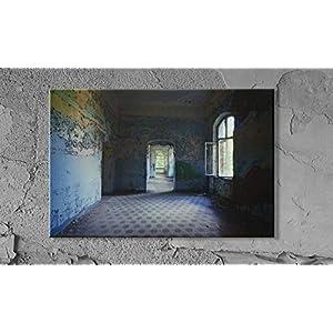 Durchgang lost place Leinwand Druck Fotografie 20 x 30 cm Kunst Fotografie Wanddeko Wandbild