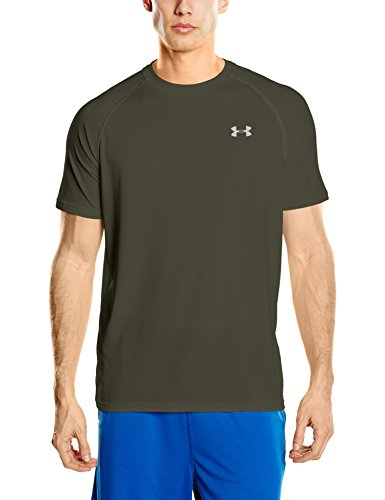 Green T-shirt Tee (Under Armour Ua Tech Ss Tee Herren Fitness - T-Shirts & Tanks, Grün (Artillery Green), M)