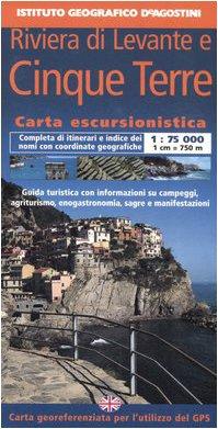Riviera di Levante e Cinque Terre 1:75 000. Con guida turistica. Ediz. italiana e inglese (Carta escursionistica)