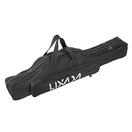 Lixada Sac de pêche Sac à roulettes Portatif à Rouleaux de Pêche Sac à Pêche Pole Gear Tackle Tool Carry Case Carrier