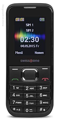 swisstone SC 230 - Dual SIM Handy (extra großem beleuchtetem Farbdisplay) schwarz