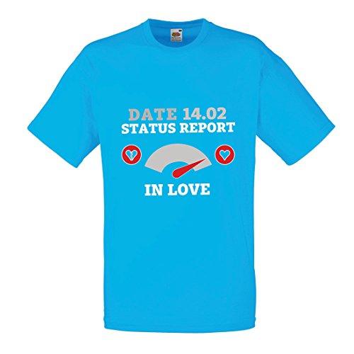 Februar Valentinstag Statusbericht. Ich Liebe Dich ! (X-Large Blau Mehrfarben) (Geschichte Der Ursprung Von Halloween)