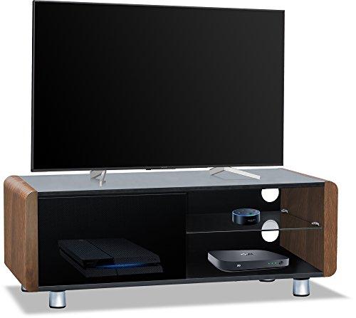 CENTURION Supports Amalfi schwarz glänzend beam-thru Fernbedienung Freundlicher 81,3cm-55Flachbild TV-Schrank walnuss (Schrank Für Flachbild-tv)