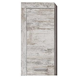 trendteam Muebles, Pino, Blanco, 36 x 79 x 23 cm