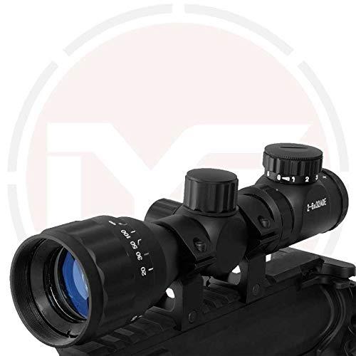 In Your Sights Luftgewehr 2-6x32 Gewehr Umfang, Verstellbar Objective Objektiv Scope und Im Lieferumfang Halterungen und Objektiv Kappen - 20mm Weaver Mount