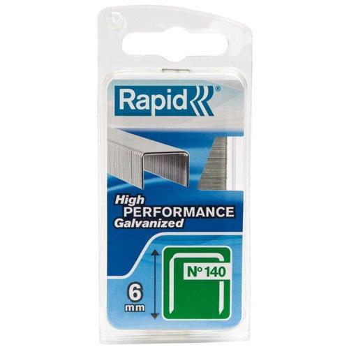 Rapid, 40109513, Agrafes N°140, Longueur 6mm, 970 pièces, Pour les travaux de construction et d'isolation, Fil galvanisé, Haute performance