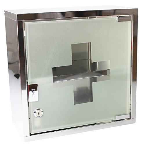 com-fourr-medizin-schrank-aus-edelstahl-mit-matter-glastur-abschliessbar-30x15x30cm-mattes-gehause