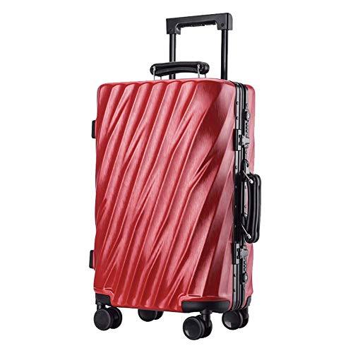 YUNY TSA Customs Lock Business Reisetrolley Koffer ABS Hartschalenkoffer Reisetrolley Koffer 4 Räder leicht 26 \ verschiedene Farben, Rot -